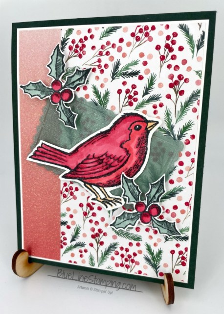 Stampin' Up!, Happy Holly Days, Painted Christmas, Ombre Specialty Paper, Shimmer Vellum, Scalloped Contours Dies, Jackie Beers