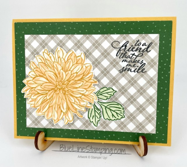 Stampin' Up!, Delicate Dahlias, Forever Fern, Peaceful Prints, Jackie Beers