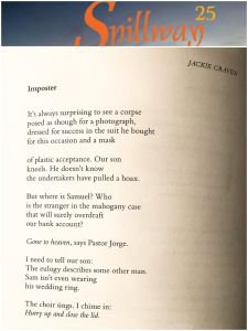 Imposter, a poem by Jackie Craven, in Spillway magazine