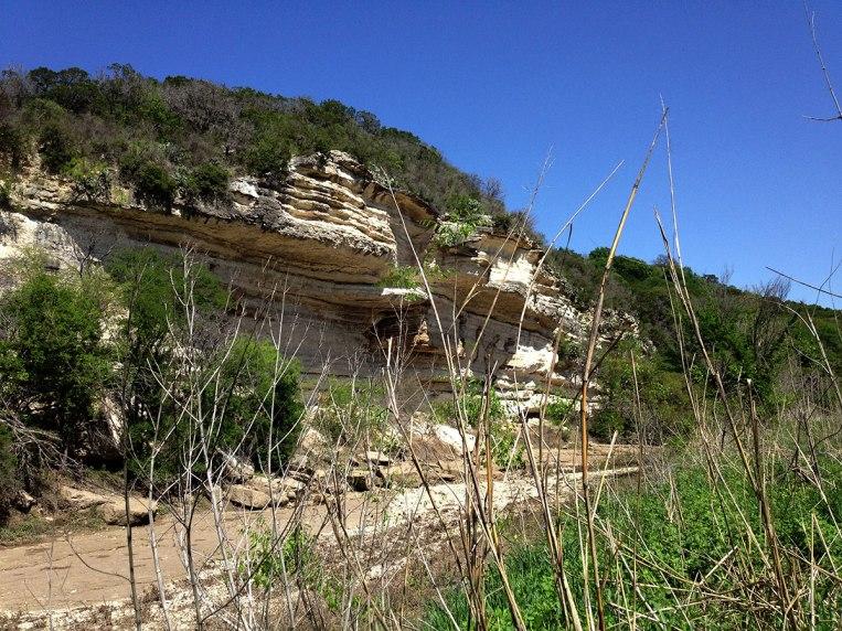 cliffs over creek