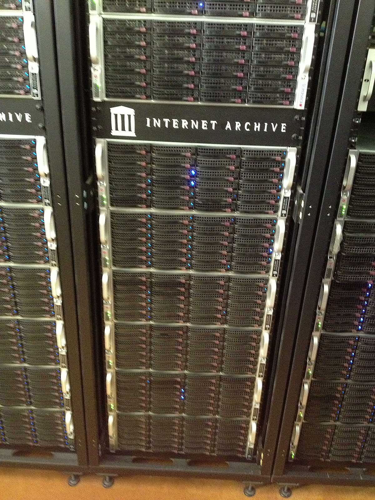 Servers at the Internet Archive