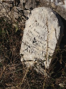 headstone for martin