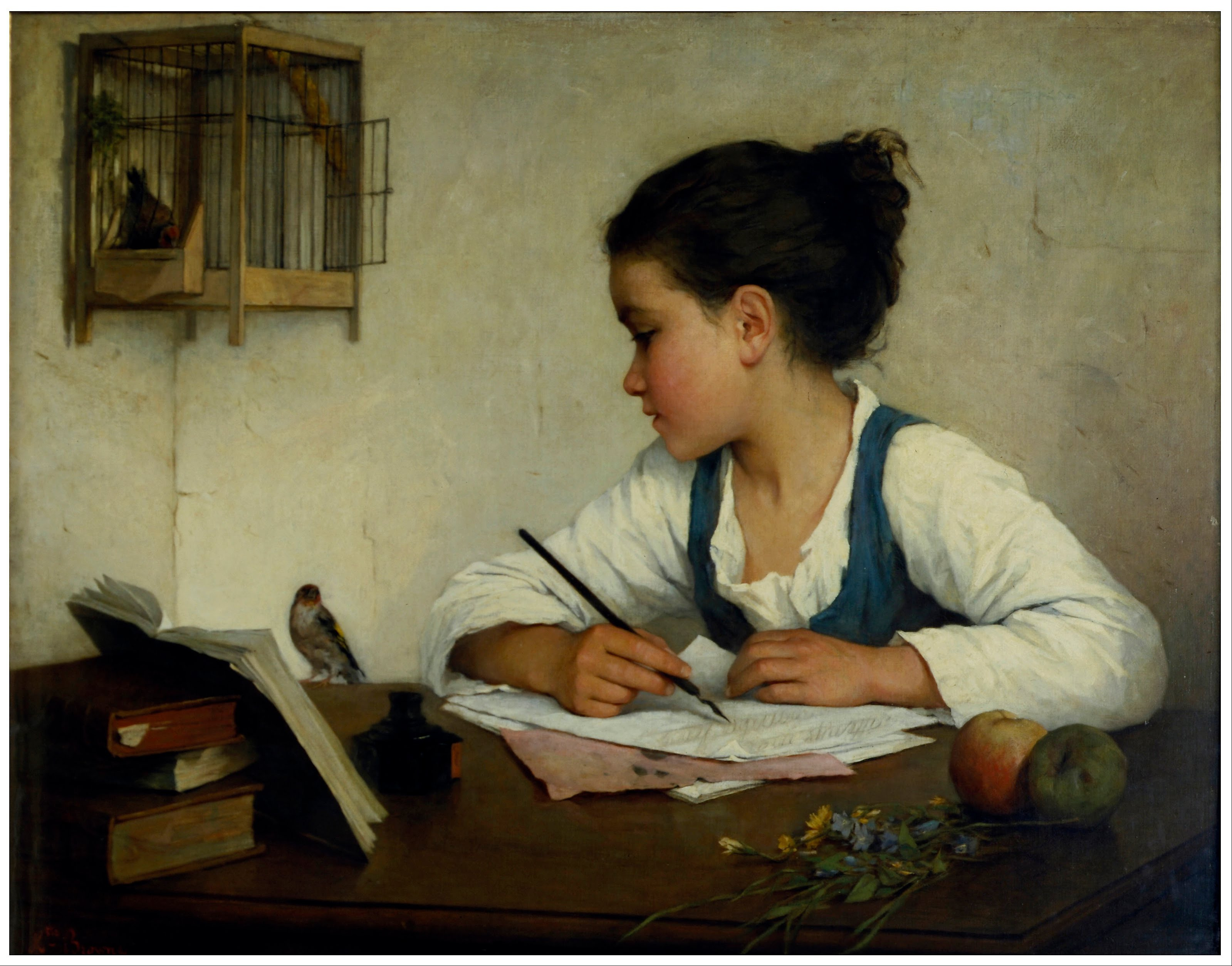 Henriette Brown, A Girl Writing Source: Wikipedia