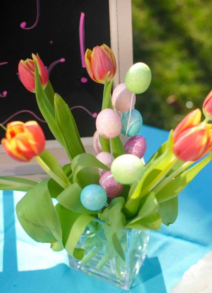 flowers with eggs_