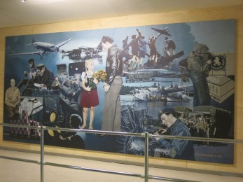 A Mural Depicting the Berlin Airlift