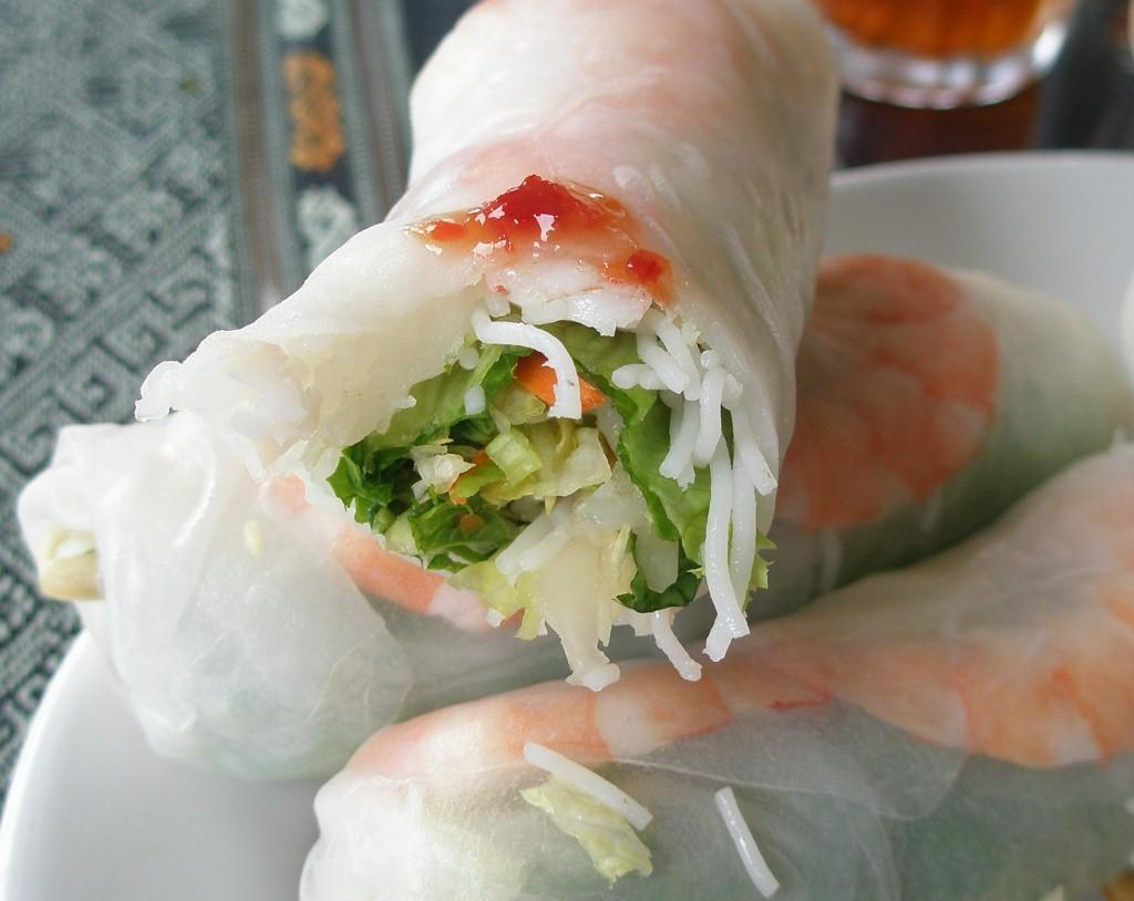 Summer Rolls - fresh greens and large shrimp