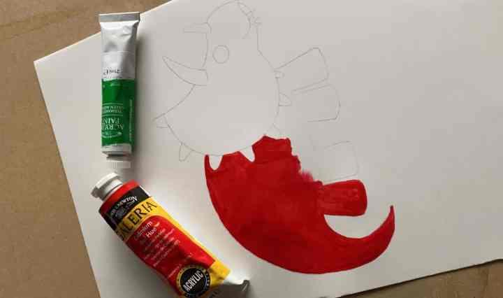 Acrylic painting dinosaurs