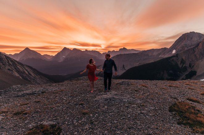 Mountaintop Sunset Elopement