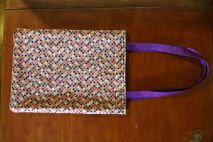A Christmas gift for my stepmom--a practical, but cute, fabric bag.