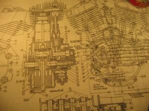 [WRG3746] 1930 Harley Davidson Engine Diagram