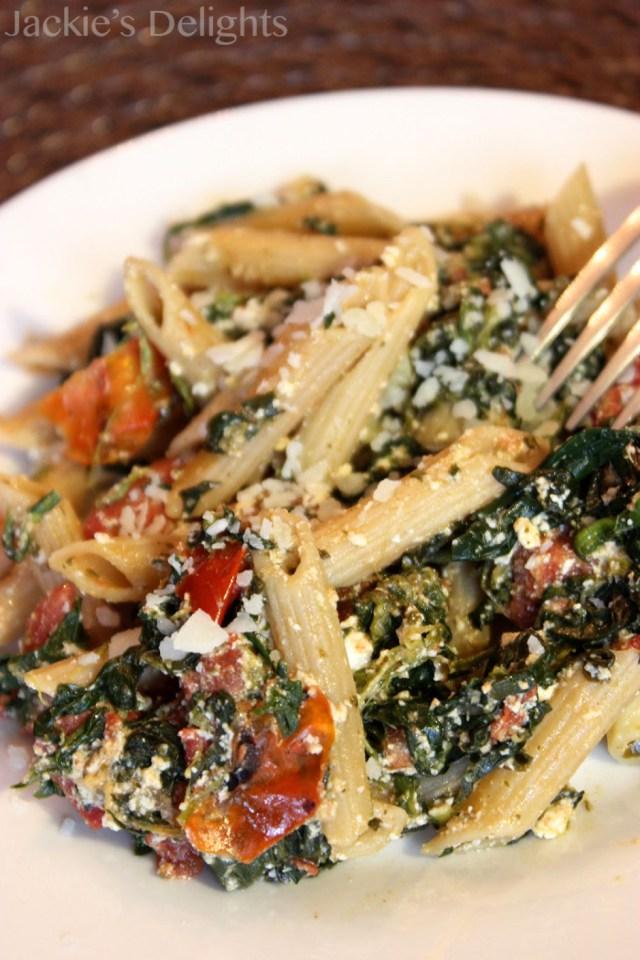 spinach tomato pasta.4