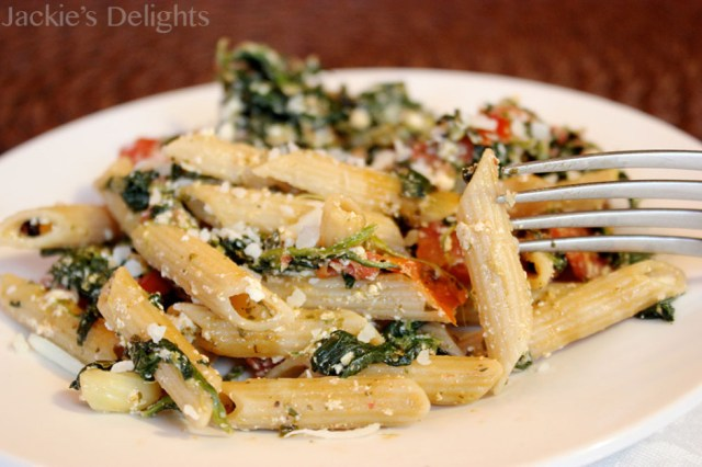 spinach tomato pasta.5