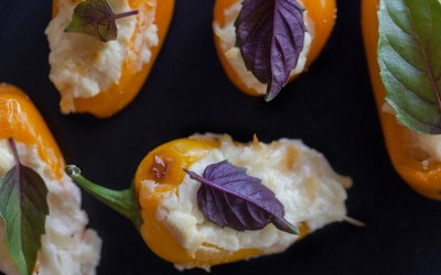 Tiny Sweet Peppers Stuffed with Cheese