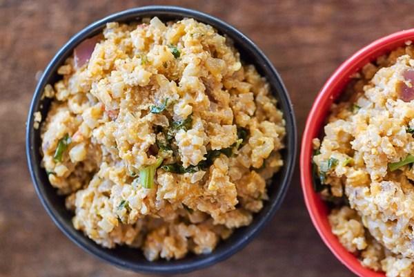 Thai cauliflower fried rice recipe photo by Jackie Alpers