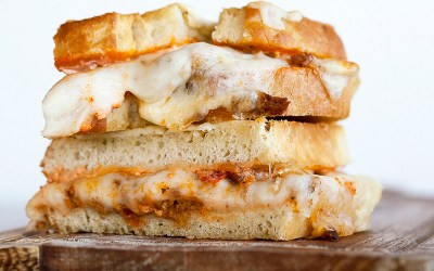 Parmesan-Crusted Lasagna Grilled Cheese Sandwich