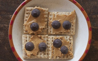 A Super Simple Peanut Butter & Chocolate, Salty, Crunchy Snack