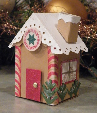 Addicted To Stamping Gingerbread Milk Carton