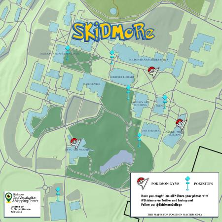Skidmore College Pokemon Go Map