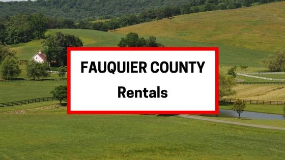 fauquier county va rentals