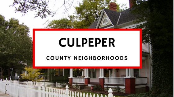 culpeper county neighborhoods subdivisions