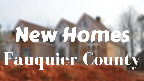 Fauquier county new homes