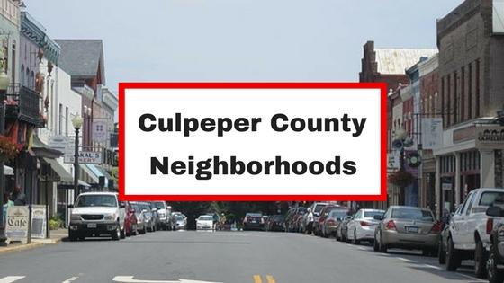 culpeper neighborhoods