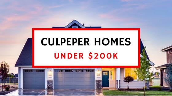 culpeper va homes under 200,000