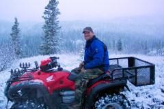 On a wintertime 4-wheeler ride