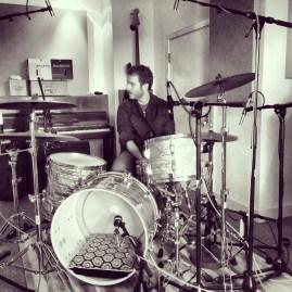 Jim Brazendale recording at Universal