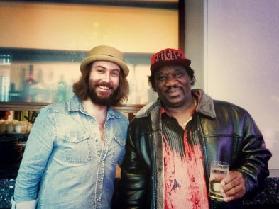 Jack J Hutchinson at Bluesfest with Mud Morganfield