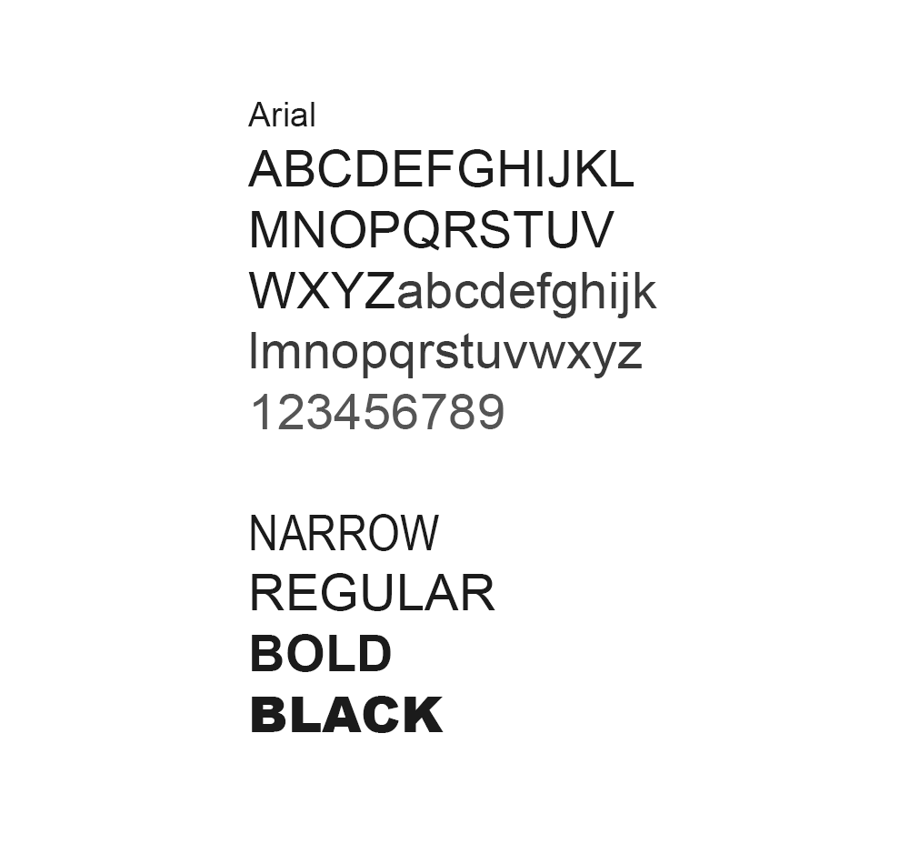 SQUARED Arial Typography