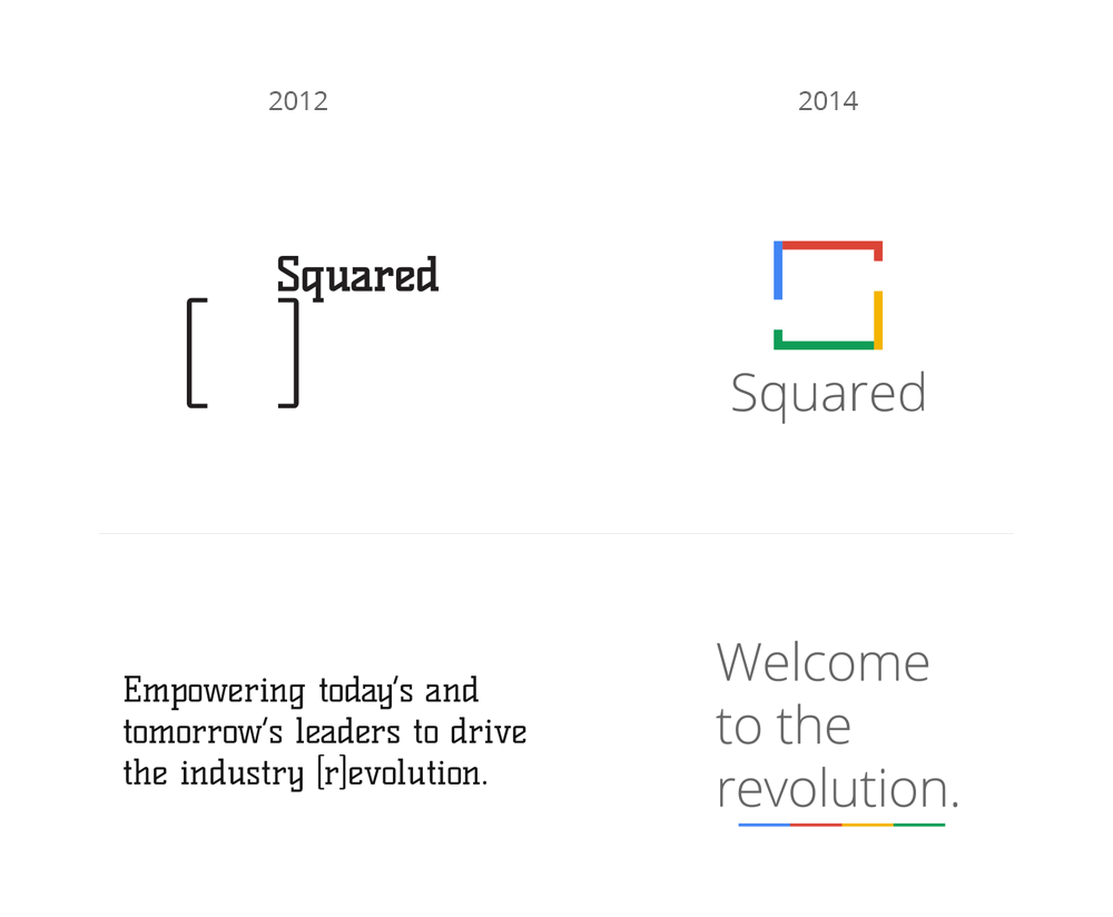 Google Squared Rebrand Before & After