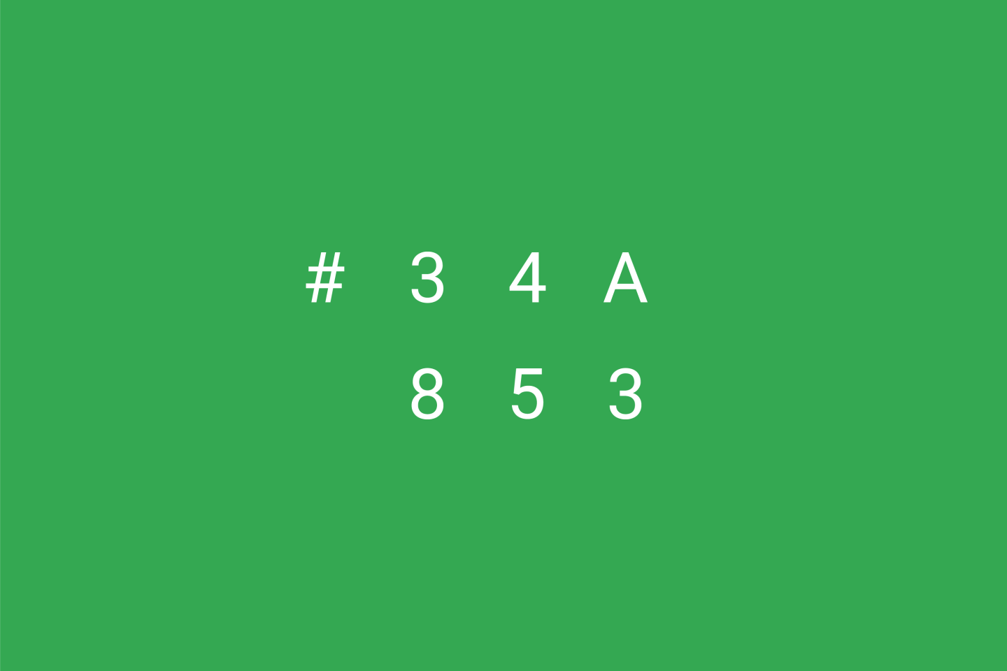 Google Brand Colors - Green