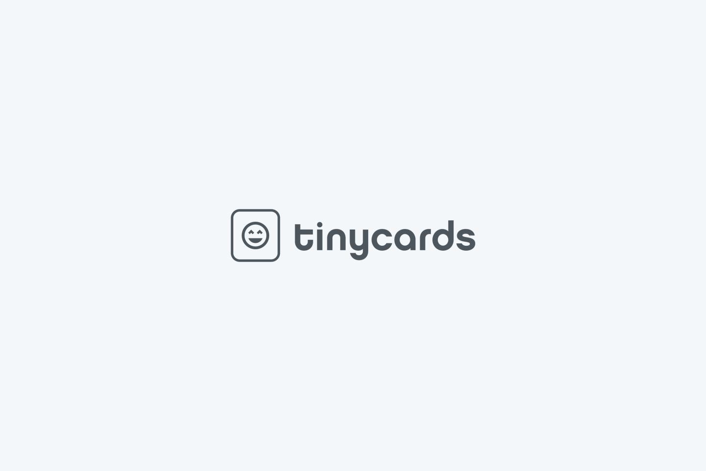 Duolingo Tinycards 1st Logo Draft