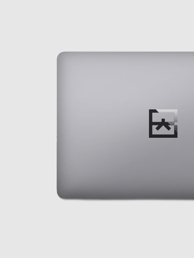 Google Brand Black Belt MacBook Logo Decal