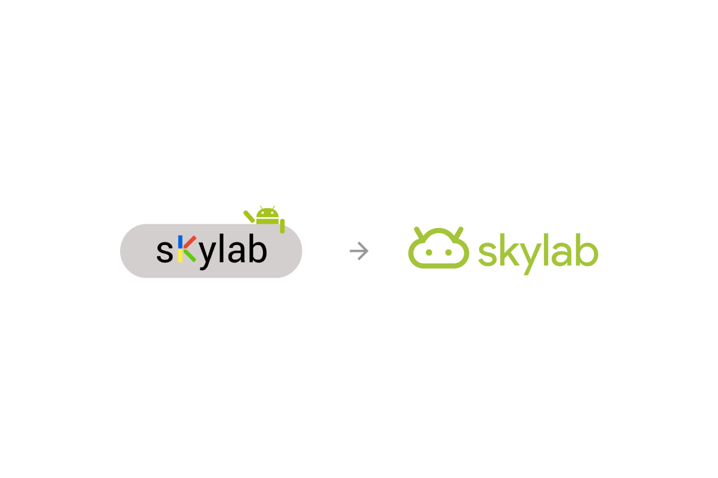 Google Skylab Logo Before and After by Jack Morgan