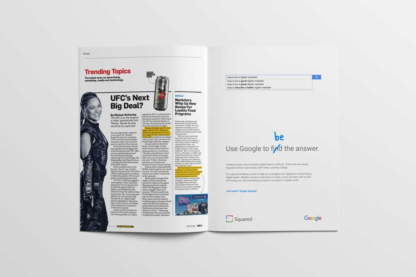 Google Squared Full Page Print Ad - AdWeek