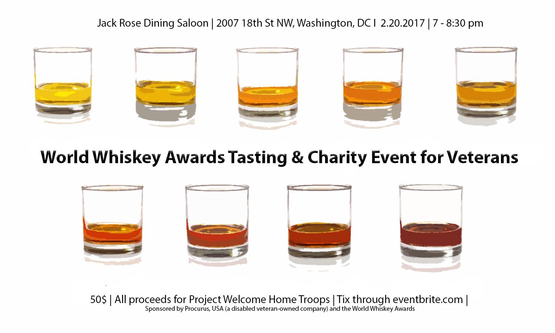 World Whiskey Awards Tasting Amp Charity Event For Veterans