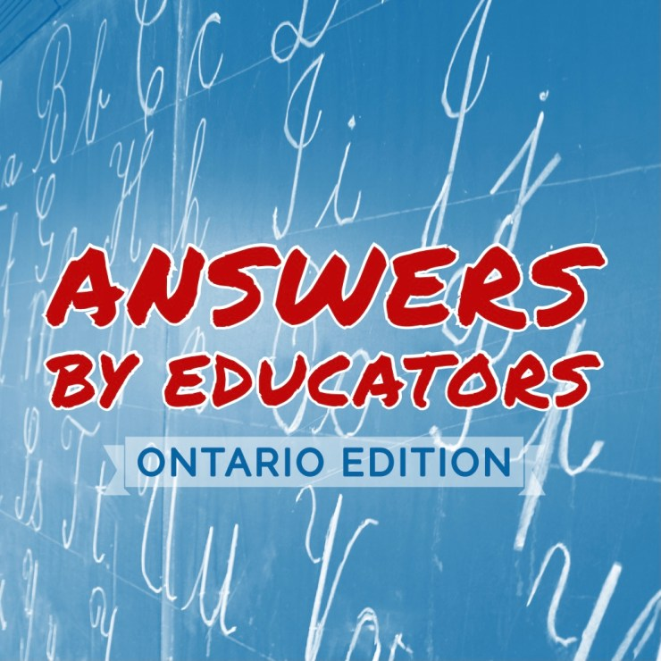 podcast cover art - answers by educators