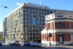 Unusual window design, Hobart.