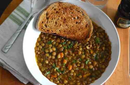 Top shop photo of puy lentil soup