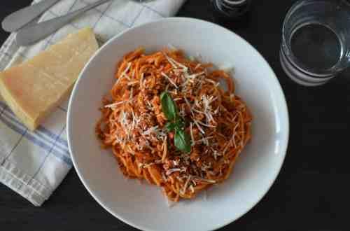 My finished Spaghetti Bolognese photo