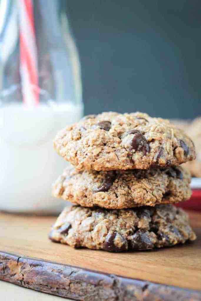 Vegan-Oatmeal-Chocolate-Chip-dairy free Cookies