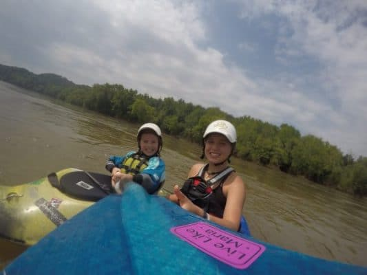 Paddling with My Little Sister