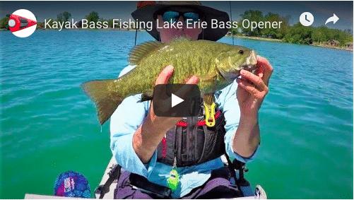 Kayak Bass Fishing, Love them Smallmouth, Lake Erie