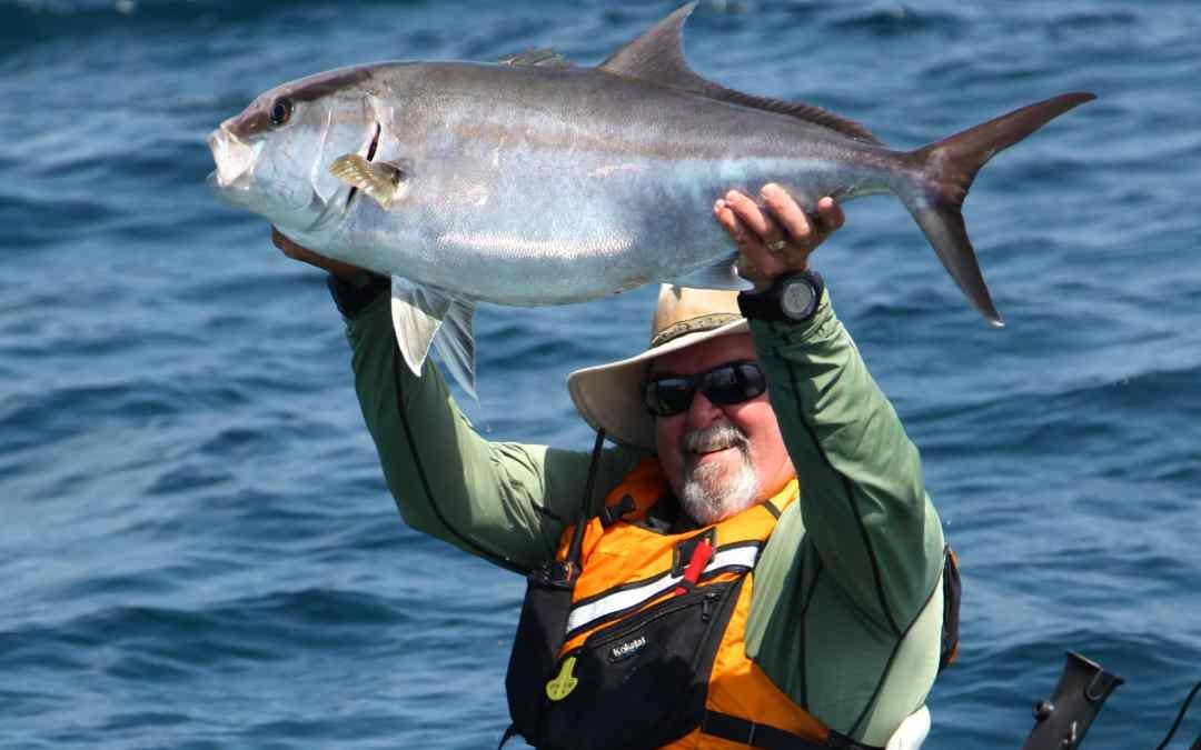 Kayak Fishing The Chrystal Coast for big Amber Jacks