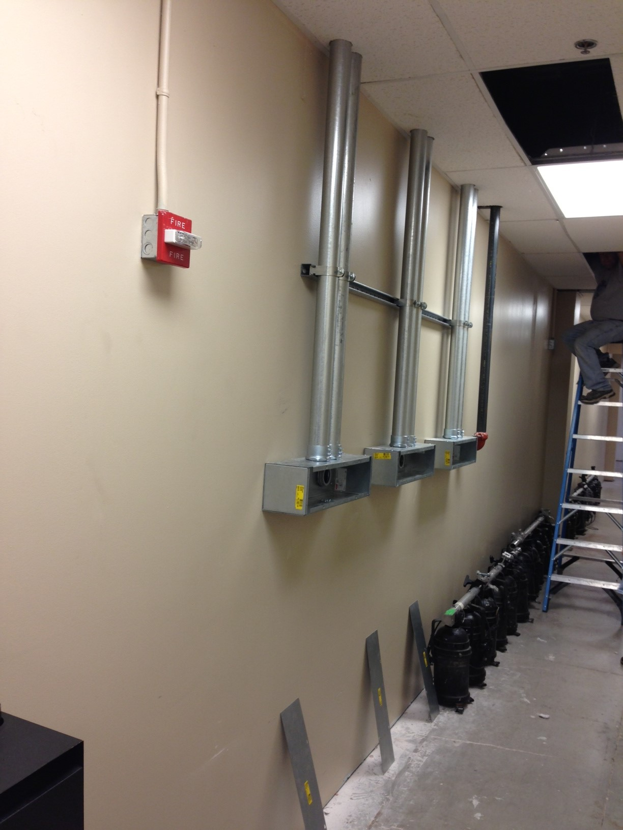 commercial electrical conduit pipe construction remodel