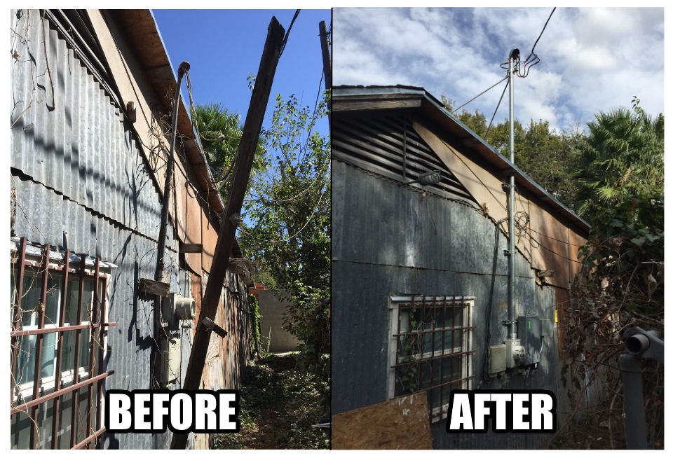 electrical service before and after residential
