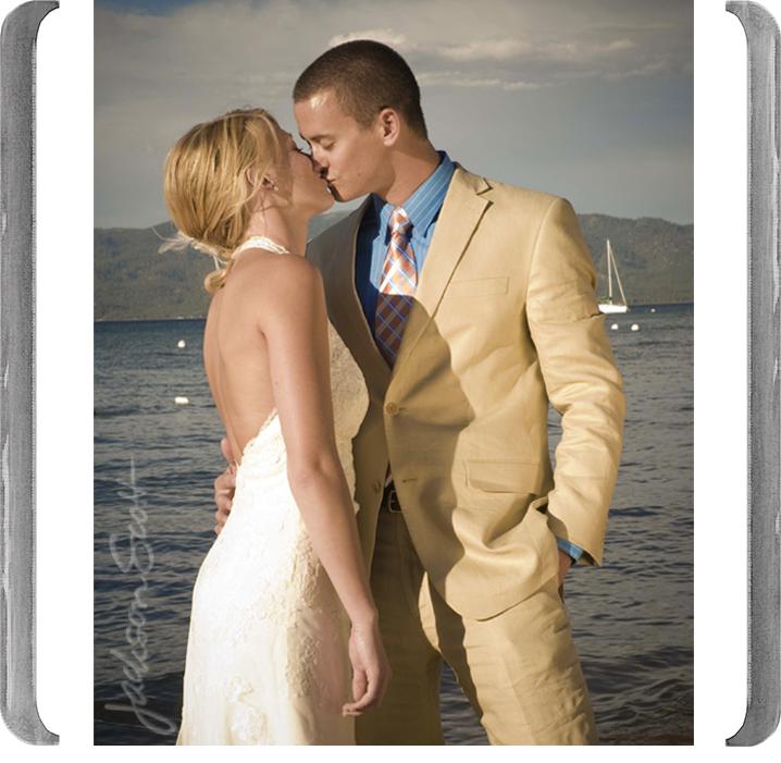 LAKESIDE WEDDING KISS