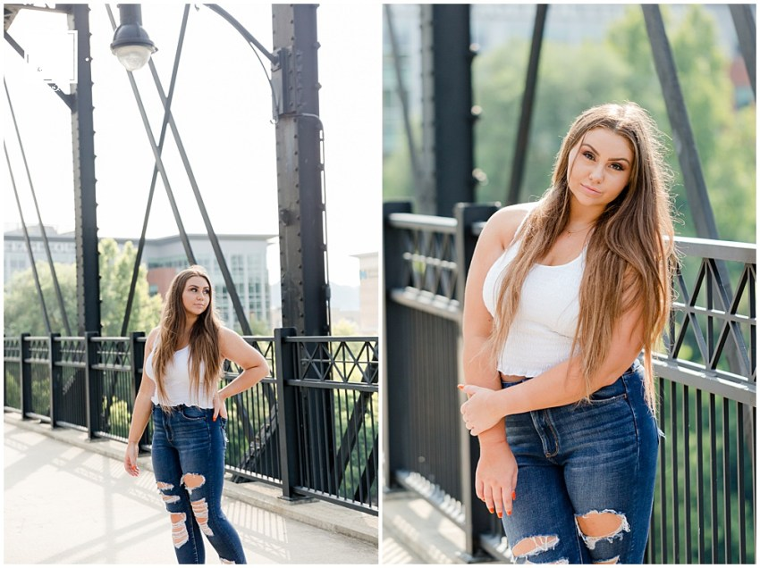 Greensburg Central Catholic High School Senior Alexis's downtown Pittsburgh senior portrait session by Jackson Signature Photography.